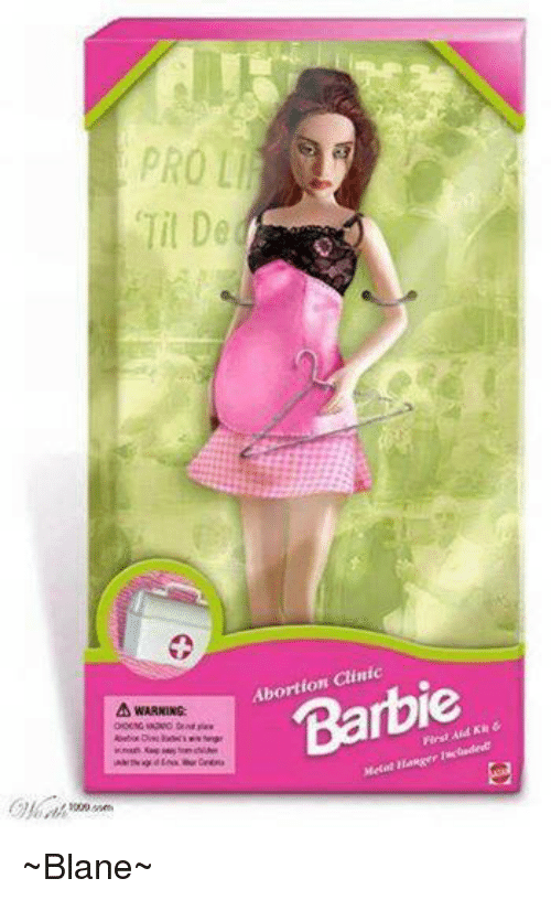 abortion barbie poster attack - 500×816