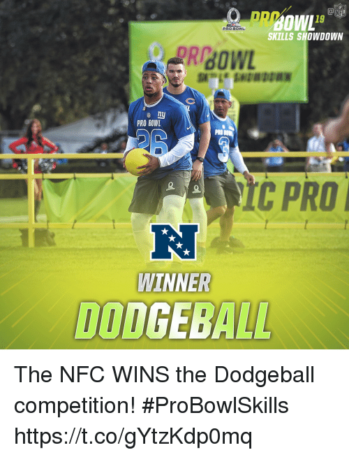 Dodgeball, Memes, and Pro: PRw  PRO BOWL  SKILLS SHOWDOWN  PRO BOWL  PRO  CPRO  WINNER  DODGEBALL The NFC WINS the Dodgeball competition! #ProBowlSkills https://t.co/gYtzKdp0mq