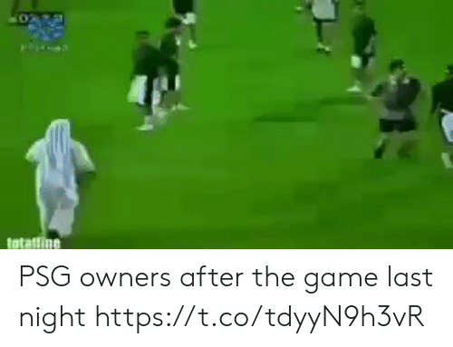 Memes, The Game, and Game: PSG owners after the game last night  https://t.co/tdyyN9h3vR