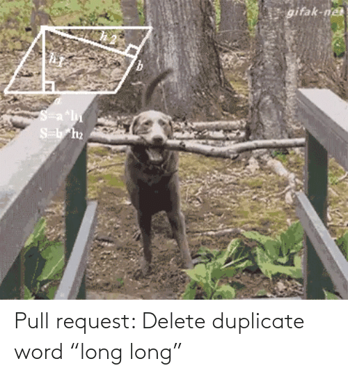"""Pull: Pull request: Delete duplicate word """"long long"""""""