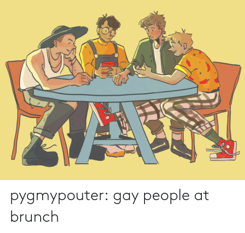 gay: pygmypouter: gay people at brunch