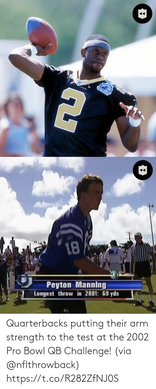 bowl: Quarterbacks putting their arm strength to the test at the 2002 Pro Bowl QB Challenge! (via @nflthrowback) https://t.co/R282ZfNJ0S