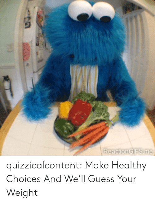 Weight: quizzicalcontent:    Make Healthy Choices And We'll Guess Your Weight