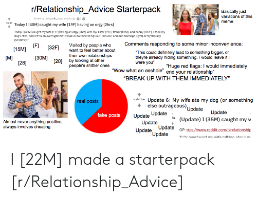 rRelationship Advice Starterpack Basically Just Variations of This