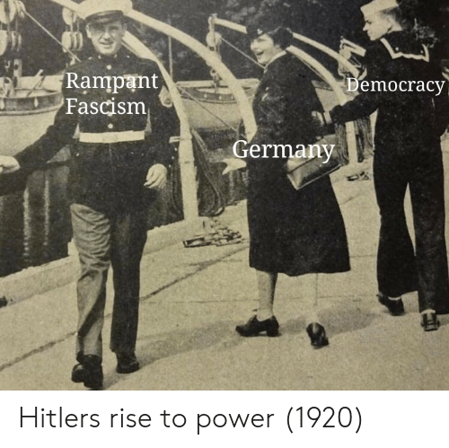 Germany, Hitler, and Power: Rampant  Fascism  emocracy  Germany Hitlers rise to power (1920)