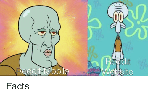 Facts, Reddit, and SpongeBob: Reddit Mobile  site