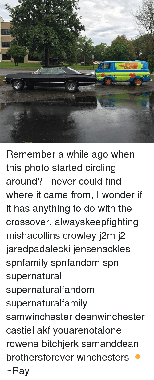 circling: Remember a while ago when this photo started circling around? I never could find where it came from, I wonder if it has anything to do with the crossover. alwayskeepfighting mishacollins crowley j2m j2 jaredpadalecki jensenackles spnfamily spnfandom spn supernatural supernaturalfandom supernaturalfamily samwinchester deanwinchester castiel akf youarenotalone rowena bitchjerk samanddean brothersforever winchesters 🔸 ~Ray
