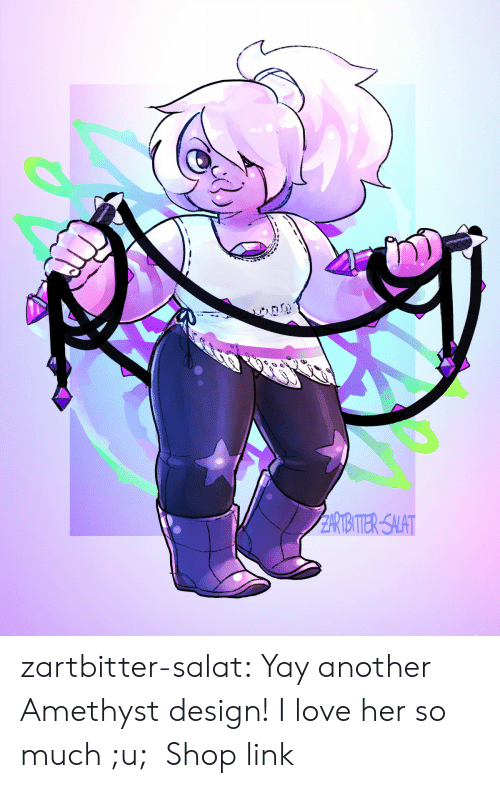 Love, Tumblr, and Amethyst: RIITER-SALAT zartbitter-salat:  Yay another Amethyst design! I love her so much ;u;  Shop link