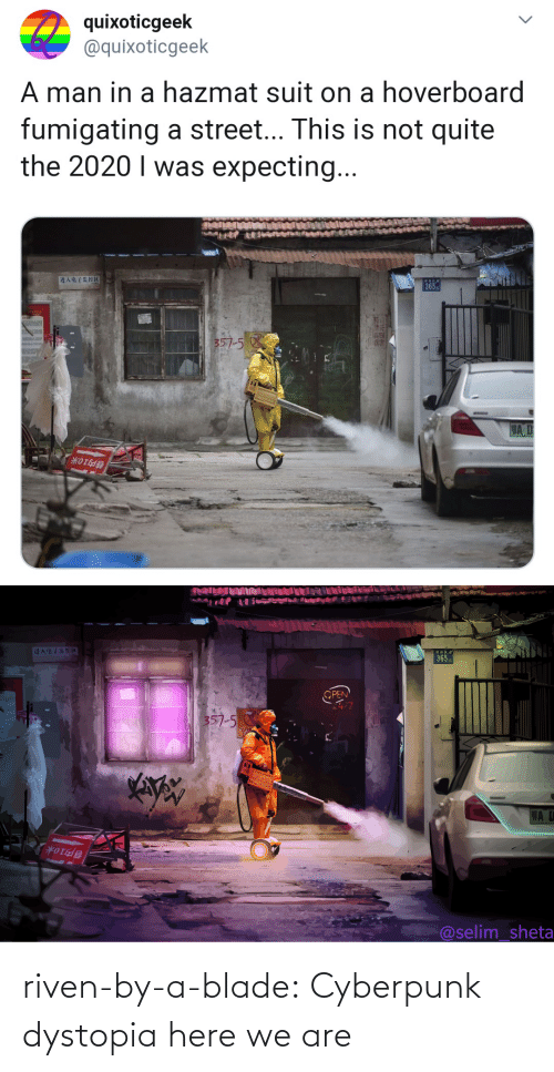 Blade: riven-by-a-blade: Cyberpunk dystopia here we are