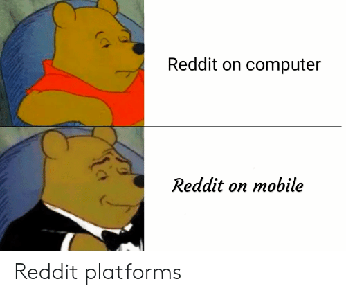 Reddit, Computer, and Mobile: ro  Reddit on computer  Reddit on mobile Reddit platforms