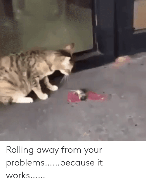 rolling: Rolling away from your problems……because it works……