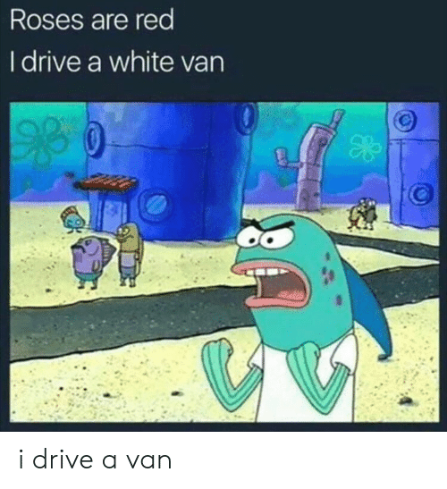 Reddit, Drive, and White: Roses are red  I drive a white van i drive a van