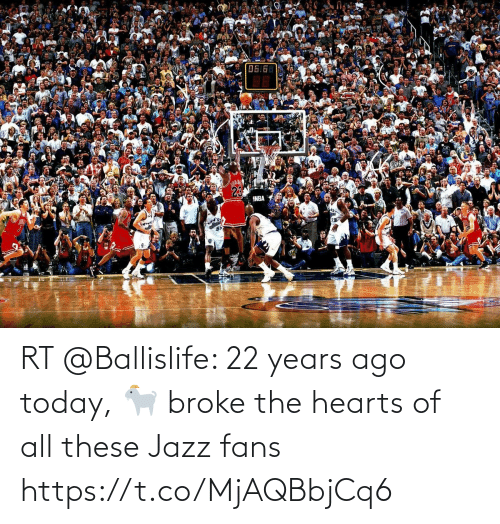 all: RT @Ballislife: 22 years ago today, 🐐 broke the hearts of all these Jazz fans https://t.co/MjAQBbjCq6