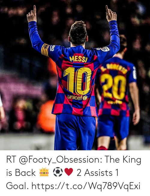 Goal: RT @Footy_Obsession: The King is Back 👑 ⚽♥️ 2 Assists  1 Goal. https://t.co/Wq789VqExi