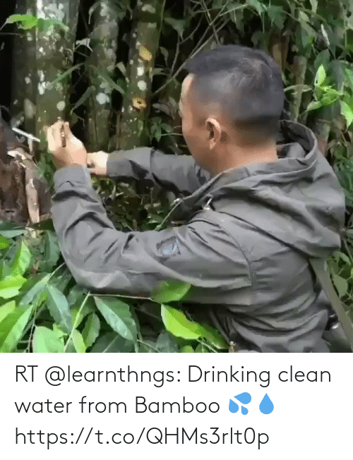 clean: RT @learnthngs: Drinking clean water from Bamboo 💦💧 https://t.co/QHMs3rlt0p