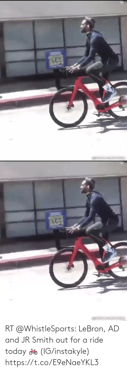 Smith: RT @WhistleSports: LeBron, AD and JR Smith out for a ride today 🚲   (IG/instakyle) https://t.co/E9eNaeYKL3