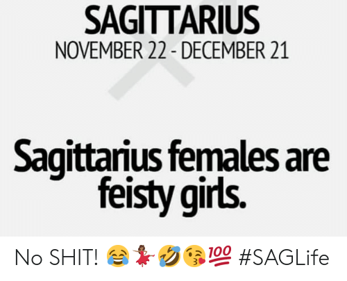 SAGITTARIUS NOVEMBER 22- DECEMBER 21 Sagittarius Females Are