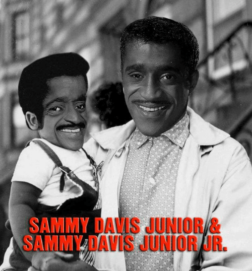 Memes, 🤖, and Davis: SAMMY DAVIS JUNIOR &  SAMMY DAVIS JUNIOR JR