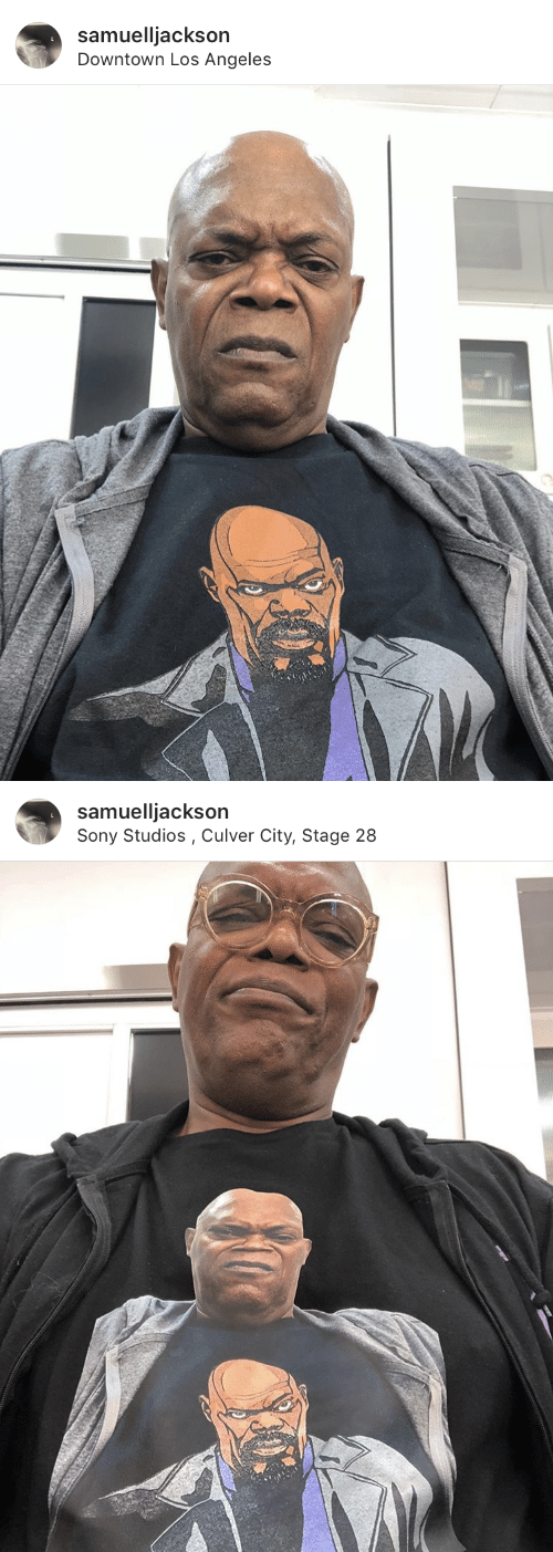 Sony, Los Angeles, and Downtown: samuelljackson  Downtown Los Angeles   samuelljackson  Sony Studios, Culver City, Stage 28