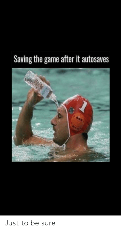 The Game, Game, and Sure: Saving the game after it autosaves Just to be sure