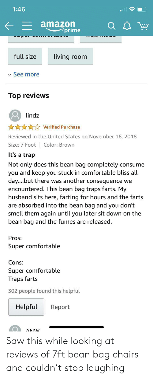 laughing: Saw this while looking at reviews of 7ft bean bag chairs and couldn't stop laughing