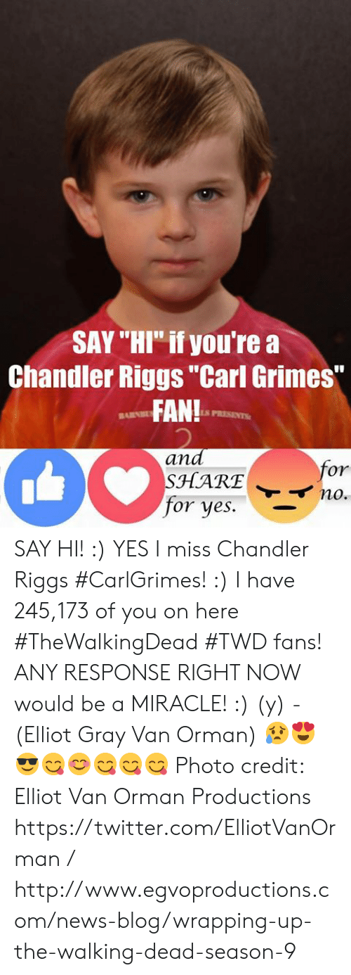 Say Hi If Youre A Chandler Riggs Carl Grimes Fan And Barnb