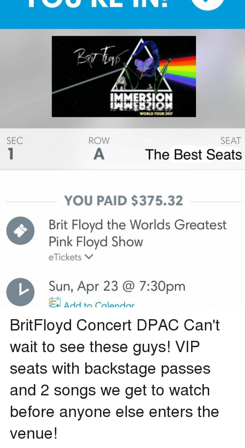 SEC IMMERSION SEAT ROW the Best Seats YOU PAID $37532 Brit