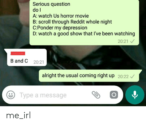Serious Question Do L a Watch Us Horror Movie B Scroll