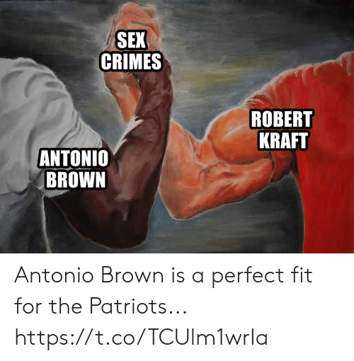 robert kraft: SEX  CRIMES  ROBERT  KRAFT  ANTONIO  BROWN Antonio Brown is a perfect fit for the Patriots... https://t.co/TCUlm1wrIa