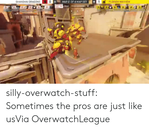www.twitch: SHANGHAI DRAGONS  XMAP 2 OF 4 MAP SET  1FLORIDA  MAYHEM silly-overwatch-stuff:  Sometimes the pros are just like usVia  OverwatchLeague