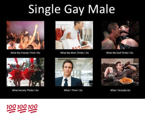 gay male: Single Gay Male  What My Friends Think I Do  What My Mom Thinks I Do  What My Dad Thinks I Do  What Society Thinks 1 Do  What I Think I Do  What I Actually Do 💯💯💯