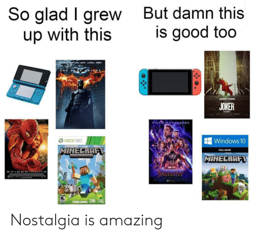 Joker: So glad I grew  up with this  But damn this  is good too  LACEB  a  DARK KNIGHT  THE  JOAQUIN PHOENIX  JOKER  CCTORER  XBOX 360  Windows 10  MINECRAFT  FULL GAME  MIHECRAFT  AWE  SMOJANG J Nostalgia is amazing