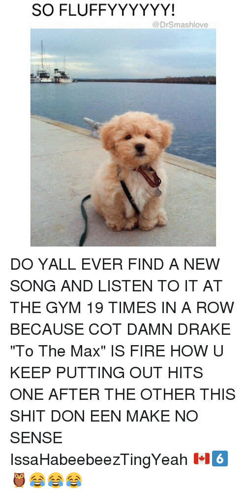 """To The Max: SOFLUFFYYYYYY!  (a Drsmashlove DO YALL EVER FIND A NEW SONG AND LISTEN TO IT AT THE GYM 19 TIMES IN A ROW BECAUSE COT DAMN DRAKE """"To The Max"""" IS FIRE HOW U KEEP PUTTING OUT HITS ONE AFTER THE OTHER THIS SHIT DON EEN MAKE NO SENSE IssaHabeebeezTingYeah 🇨🇦6️⃣🦉😂😂😂"""