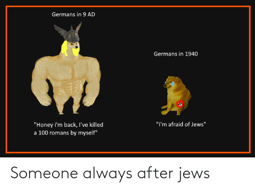 someone: Someone always after jews