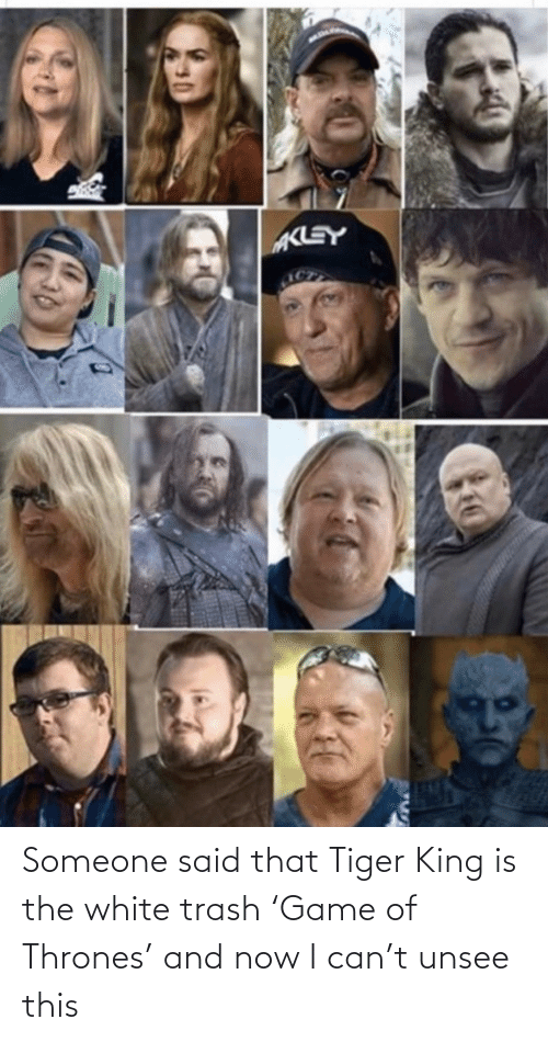 Of Thrones: Someone said that Tiger King is the white trash 'Game of Thrones' and now I can't unsee this