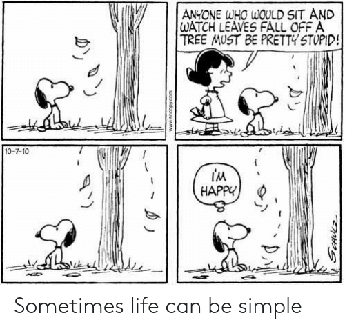 Can Be: Sometimes life can be simple