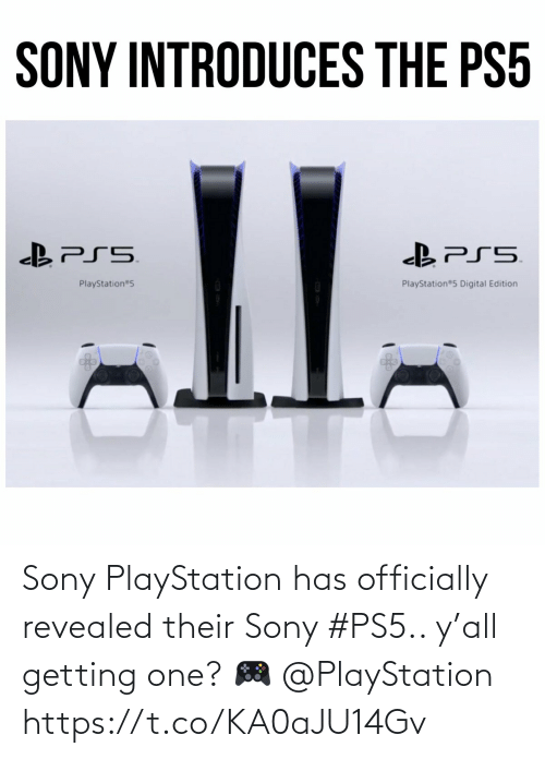 Ÿ˜…: Sony PlayStation has officially revealed their Sony #PS5.. y'all getting one? 🎮 @PlayStation https://t.co/KA0aJU14Gv