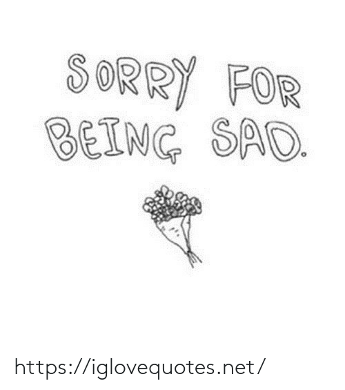 Sorry: SORRY FOR  BEING SAD. https://iglovequotes.net/