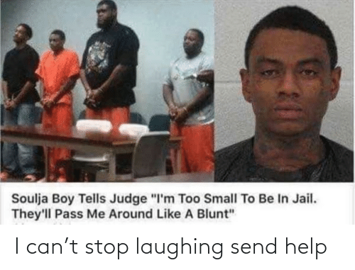 "judge: Soulja Boy Tells Judge ""I'm Too Small To Be In Jail.  They'll Pass Me Around Like A Blunt"" I can't stop laughing send help"