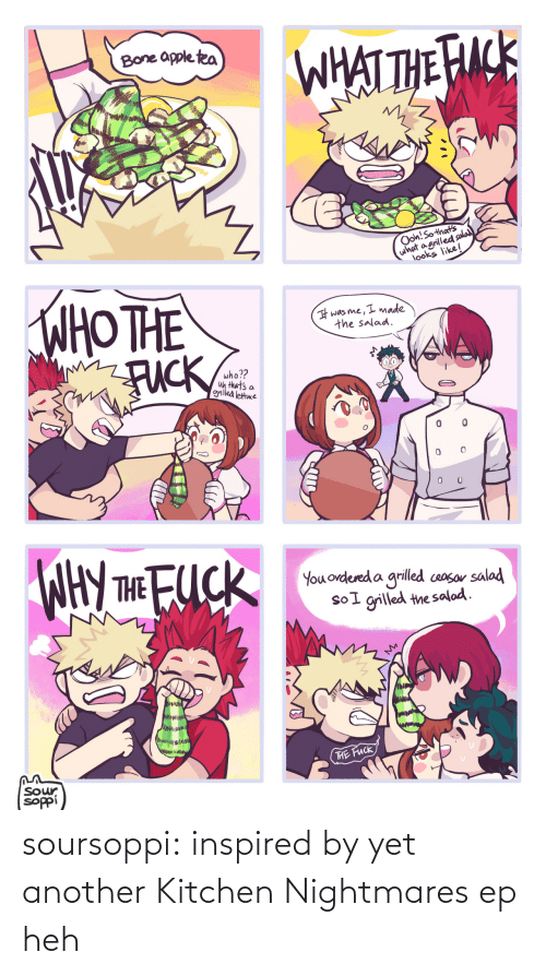 another: soursoppi:  inspired by yet another Kitchen Nightmares ep heh