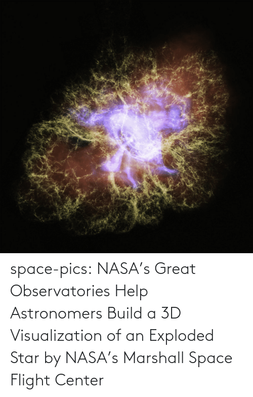 Flight: space-pics:  NASA's Great Observatories Help Astronomers Build a 3D Visualization of an Exploded Star by NASA's Marshall Space Flight Center