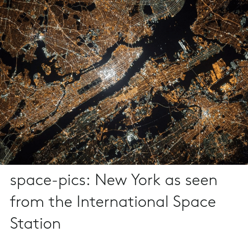 station: space-pics:  New York as seen from the International Space Station