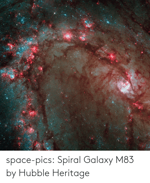 Space: space-pics:  Spiral Galaxy M83 by Hubble Heritage