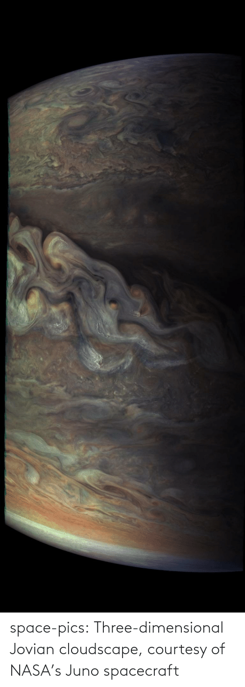 NASA: space-pics:  Three-dimensional Jovian cloudscape, courtesy of NASA's Juno spacecraft