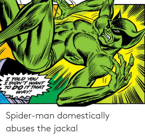 The: Spider-man domestically abuses the jackal