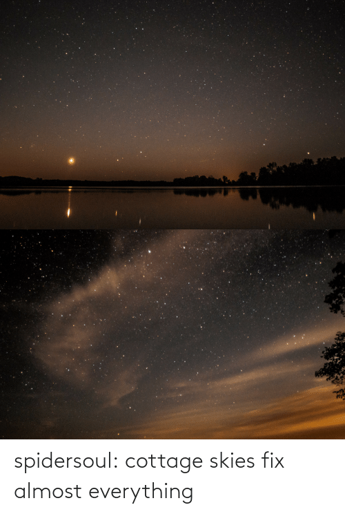 everything: spidersoul:  cottage skies fix almost everything