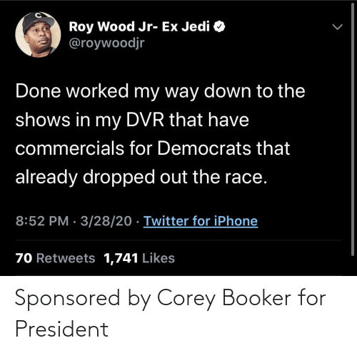 for: Sponsored by Corey Booker for President
