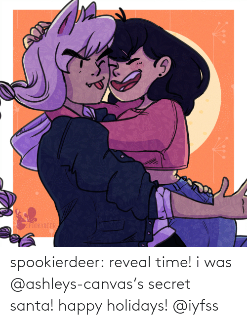 Canvas: SPOOKYDEER spookierdeer:  reveal time! i was @ashleys-canvas's secret santa! happy holidays! @iyfss