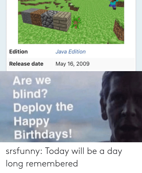 Long: srsfunny:  Today will be a day long remembered