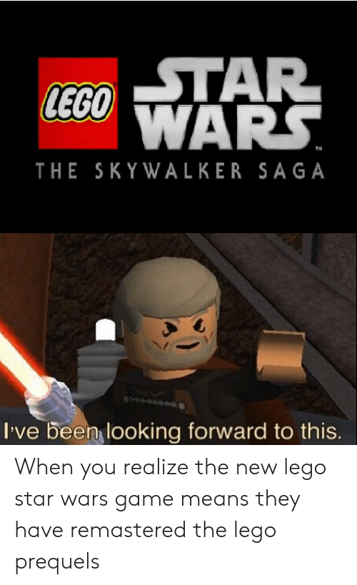 STAR LEGO WARS TM THE SKYWALKER SAGA I've Been Looking Forward to